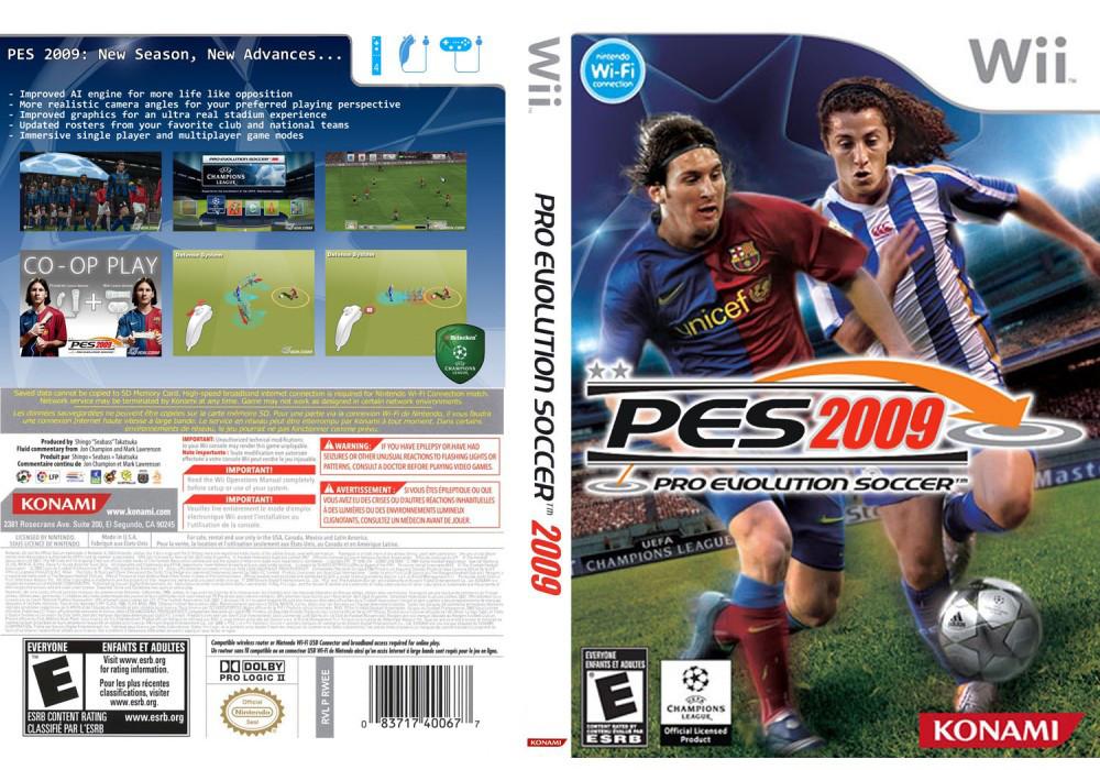 Игра для игровой консоли Nintendo Wii (PAL), Pro Evolution Soccer 2009