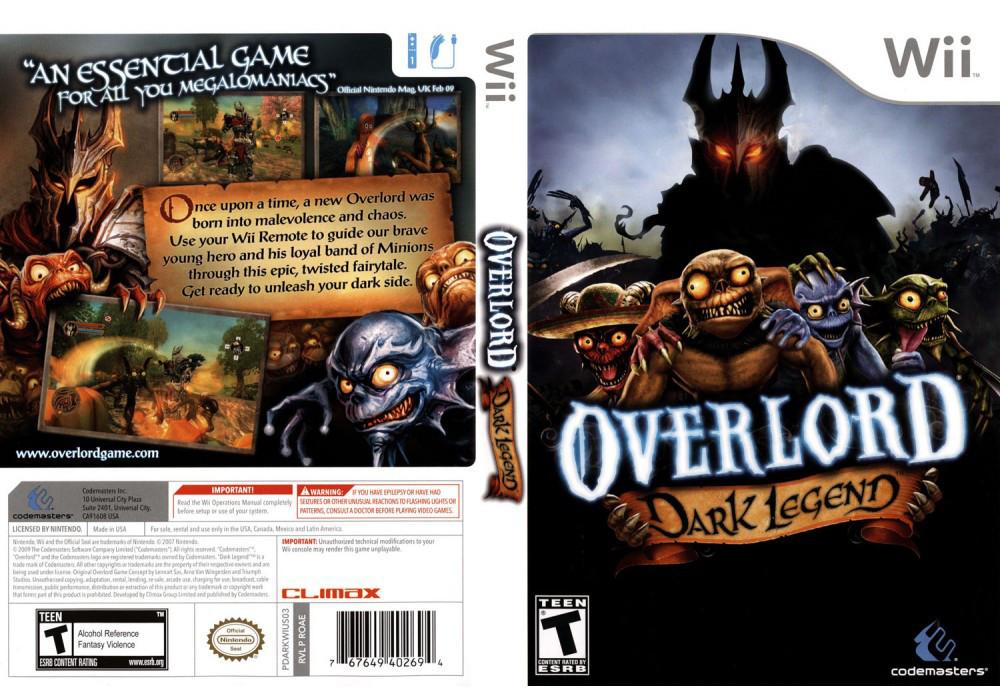 Игра для игровой консоли Nintendo Wii (PAL), Overlord: Dark Legend