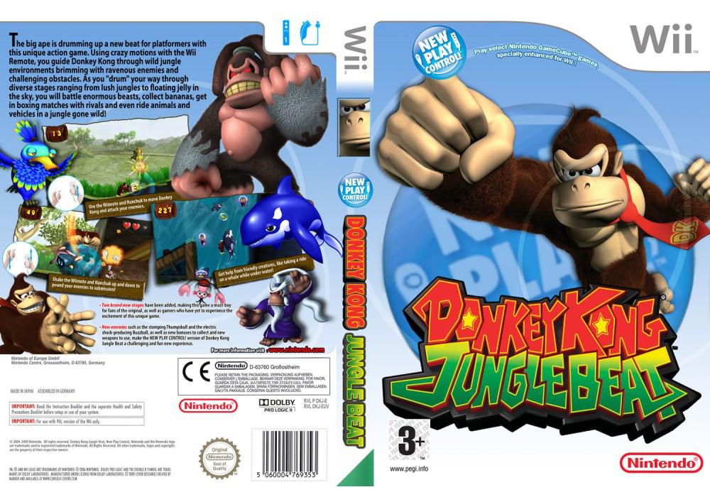 Игра для игровой консоли Nintendo Wii (PAL), Donkey Kong Jungle Beat