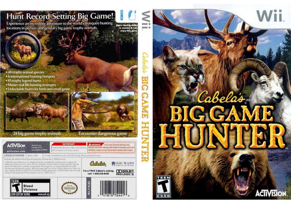 Игра для игровой консоли Nintendo Wii (PAL), Cabela's Big Game Hunter