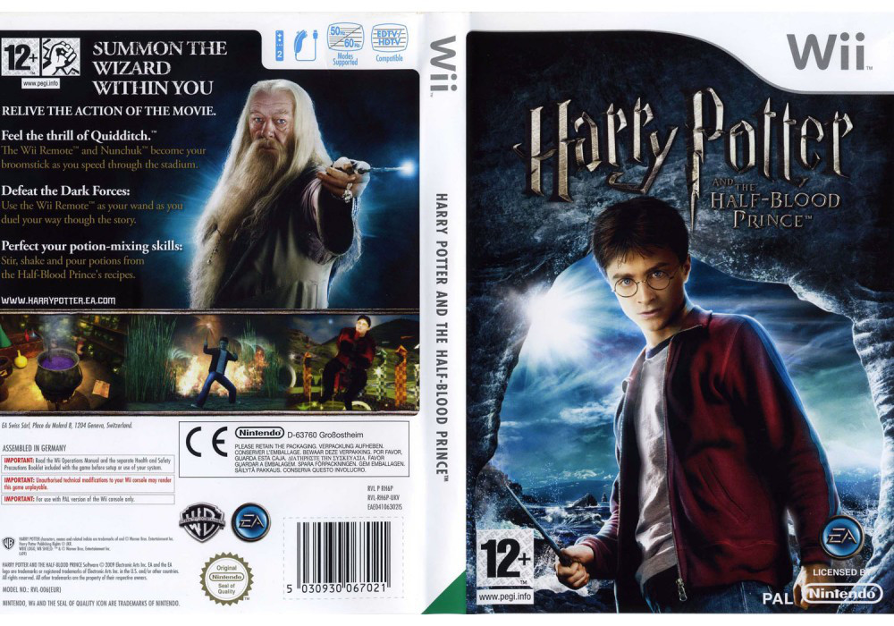 Игра для игровой консоли Nintendo Wii (PAL), Harry Potter and The Half-Blood Prince