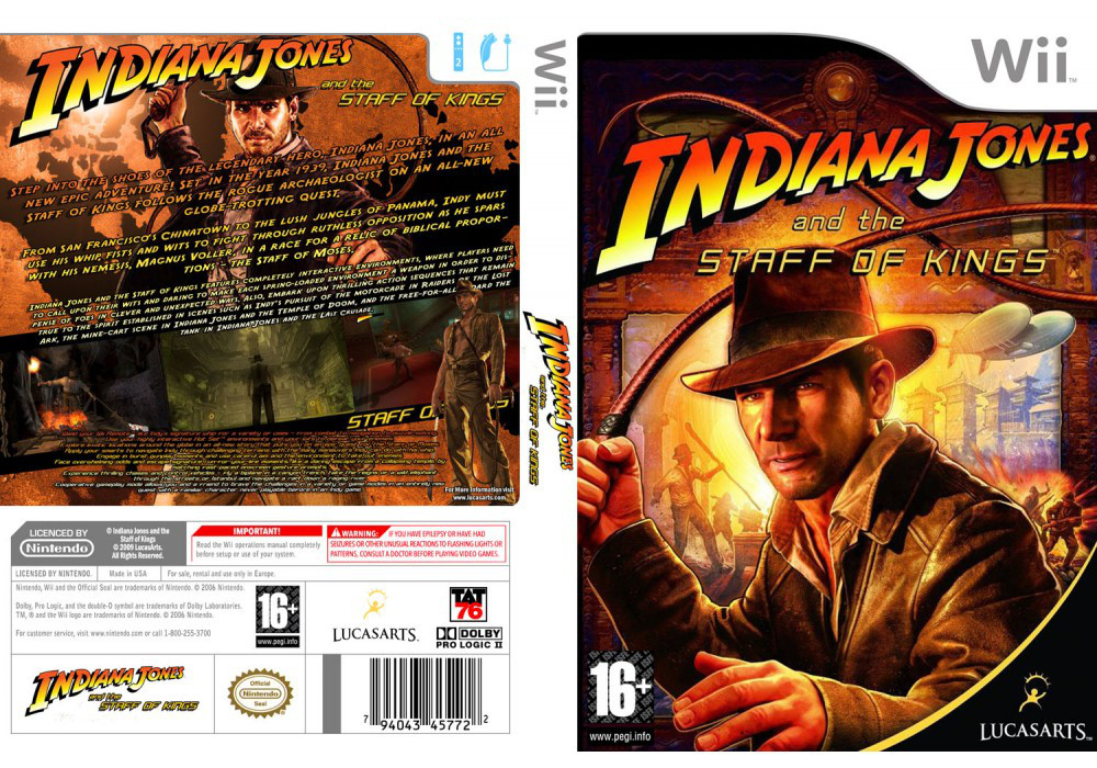 Игра для игровой консоли Nintendo Wii (PAL), Indiana Jones and the Staff of Kings