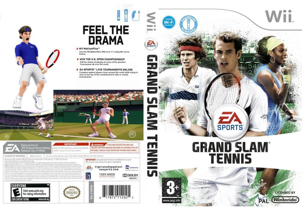 Игра для игровой консоли Nintendo Wii (PAL), Grand Slam Tennis