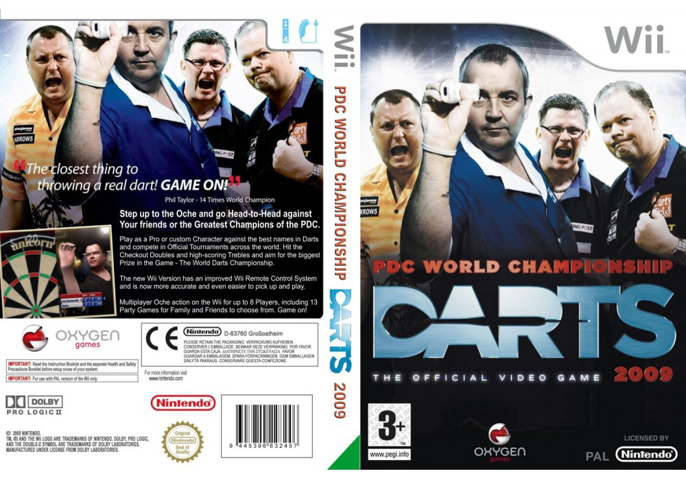 Игра для игровой консоли Nintendo Wii (PAL), PDC World ChampionShip Darts 2009