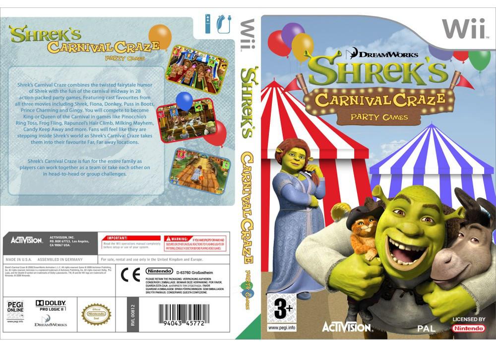 Игра для игровой консоли Nintendo Wii (PAL), Shrek's Carnival Craze