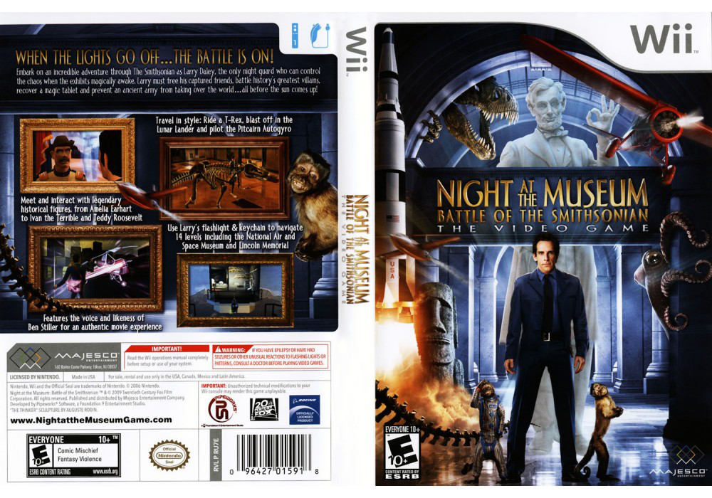 Игра для игровой консоли Nintendo Wii (PAL), Night at the Museum 2. Battle of the Smithsonian
