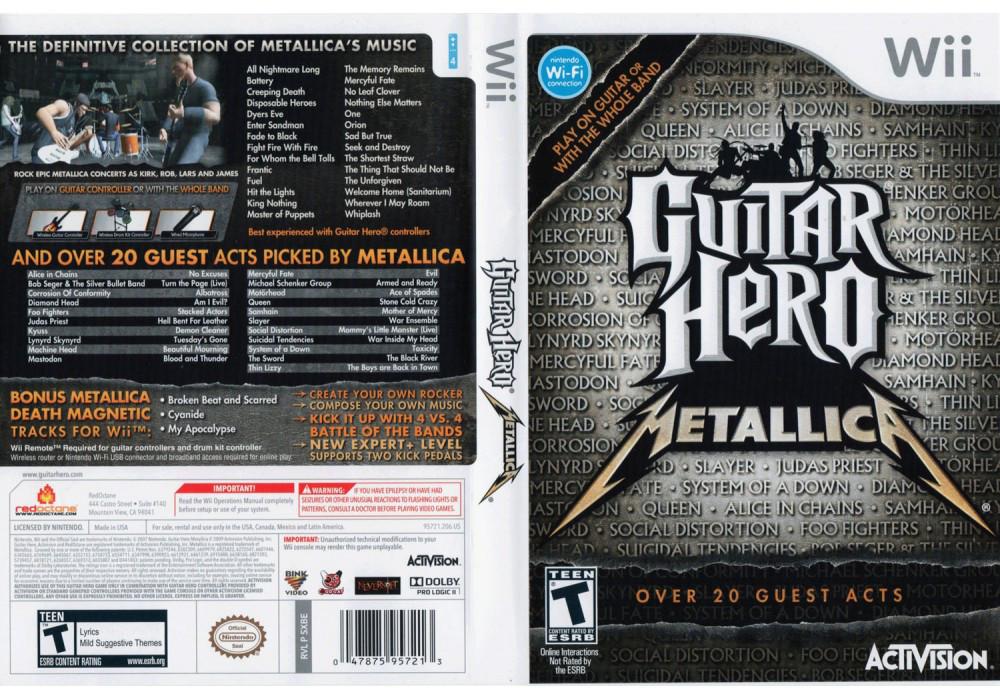 Игра для игровой консоли Nintendo Wii (PAL), Guitar Hero: Metallica