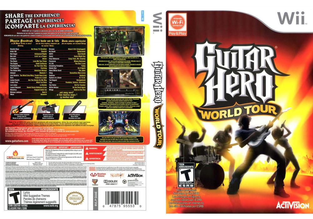 Игра для игровой консоли Nintendo Wii (PAL), Guitar Hero World Tour