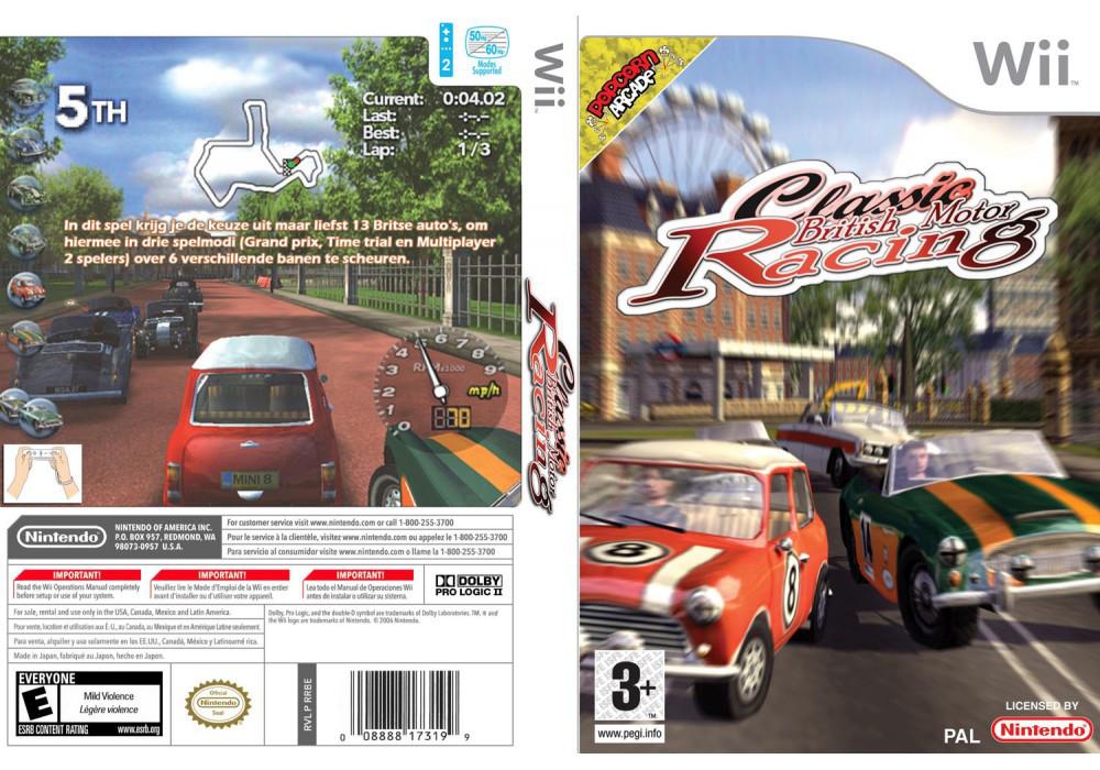 Игра для игровой консоли Nintendo Wii (PAL), Classic British Motor Racing