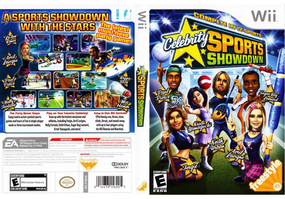 Игра для игровой консоли Nintendo Wii (PAL), Celebrity Sports Showdown