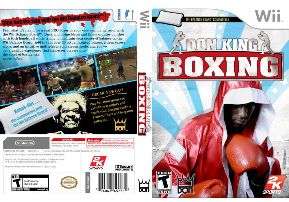Игра для игровой консоли Nintendo Wii (PAL), Don King Boxing