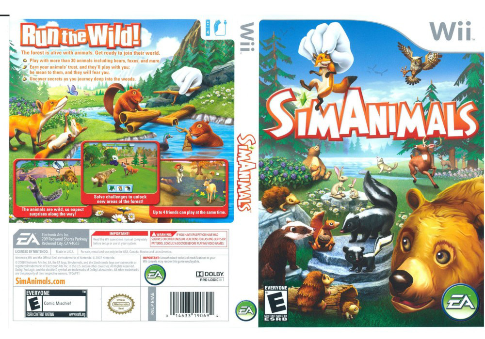 Игра для игровой консоли Nintendo Wii (PAL), SimAnimals
