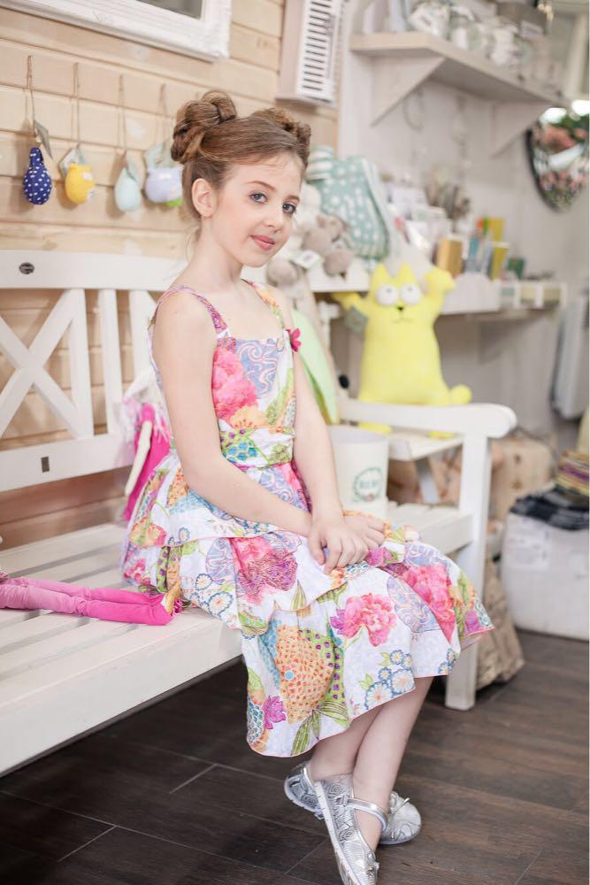 e0d5872d948 Платья летние платье сарафан в разноцветных цветах летний дев. красочный  100% хлопок 132BGIA002 BRUMS