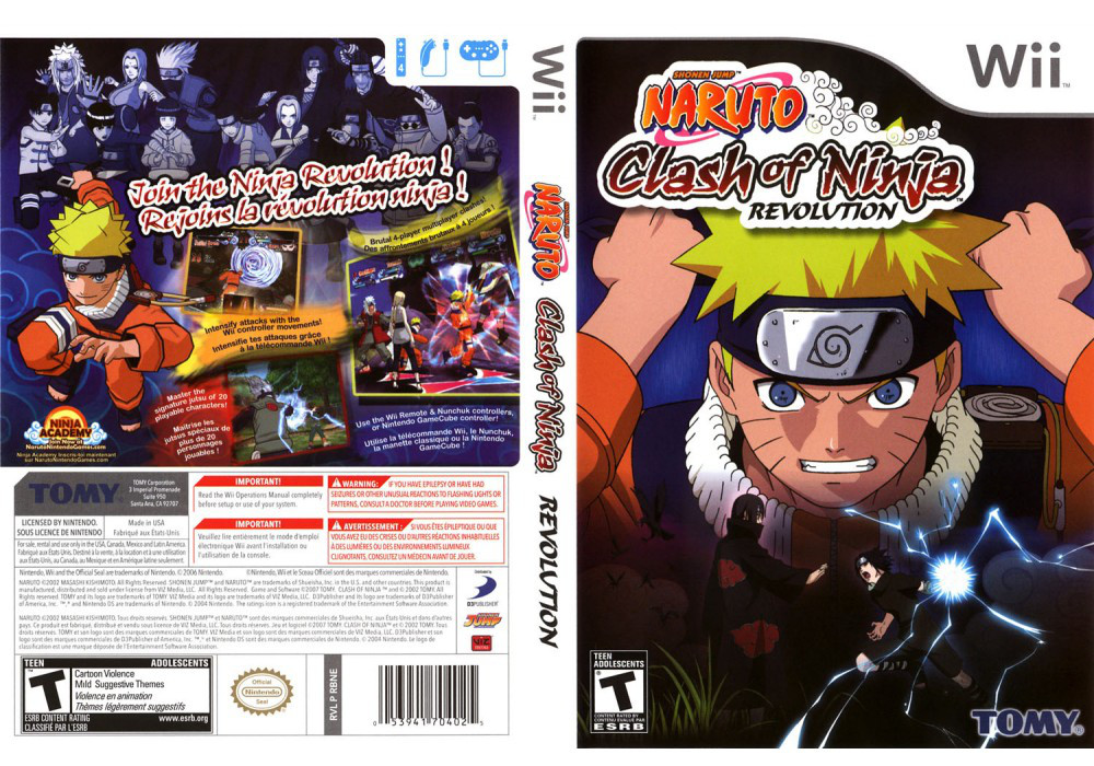 Игра для игровой консоли Nintendo Wii (PAL), NARUTO: Clash of Ninja Revolution 2
