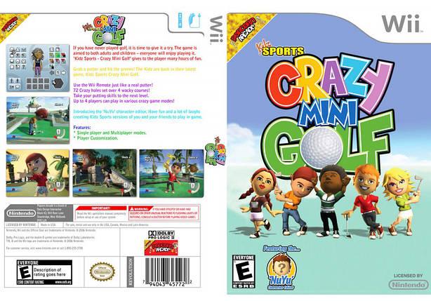 Игра для игровой консоли Nintendo Wii (PAL), Kidz Sports: Crazy Golf, фото 2