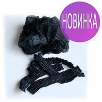 Одноразовые шапочки, шарлотки, на двойной резинке Polix 100 шт, Эксклюзив Черного цвета