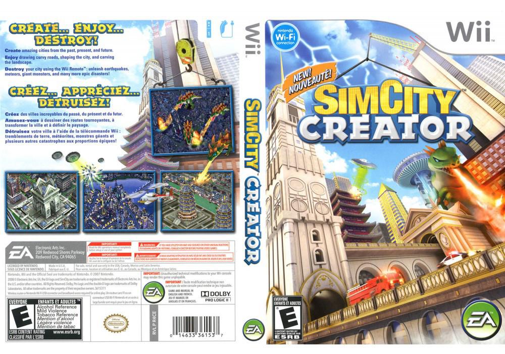 Игра для игровой консоли Nintendo Wii (PAL), SimCity Creator