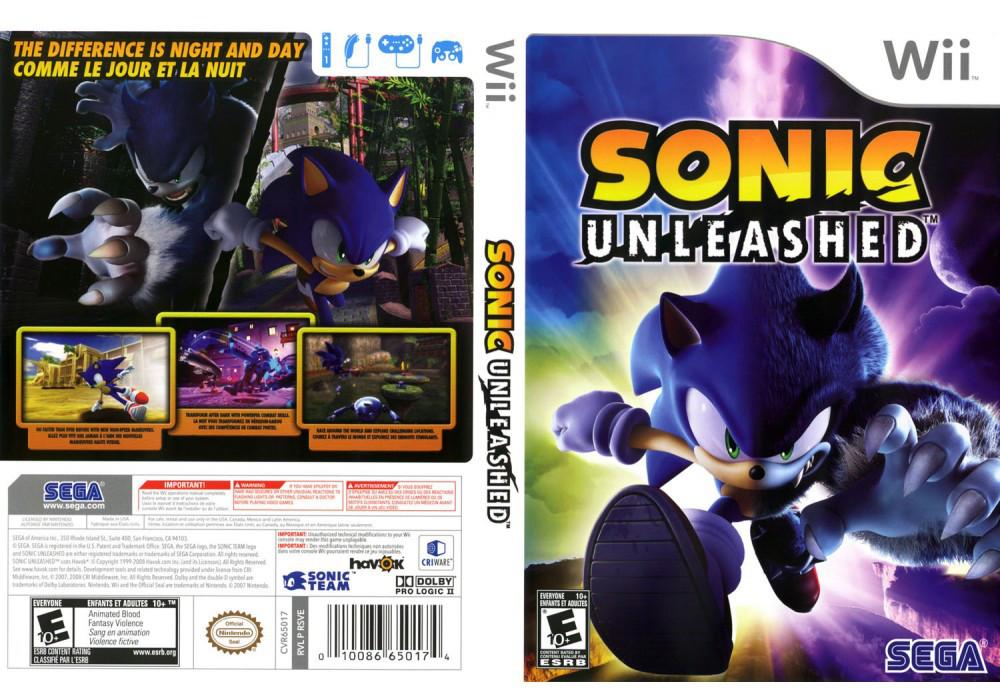 Игра для игровой консоли Nintendo Wii (PAL), Sonic Unleashed