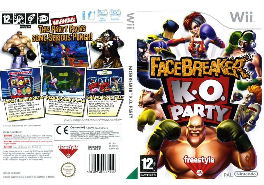 Игра для игровой консоли Nintendo Wii (PAL), Facebreaker K.O. Party