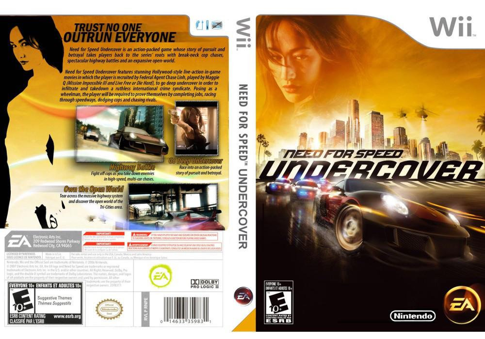 Игра для игровой консоли Nintendo Wii (PAL), Need for Speed: Undercover