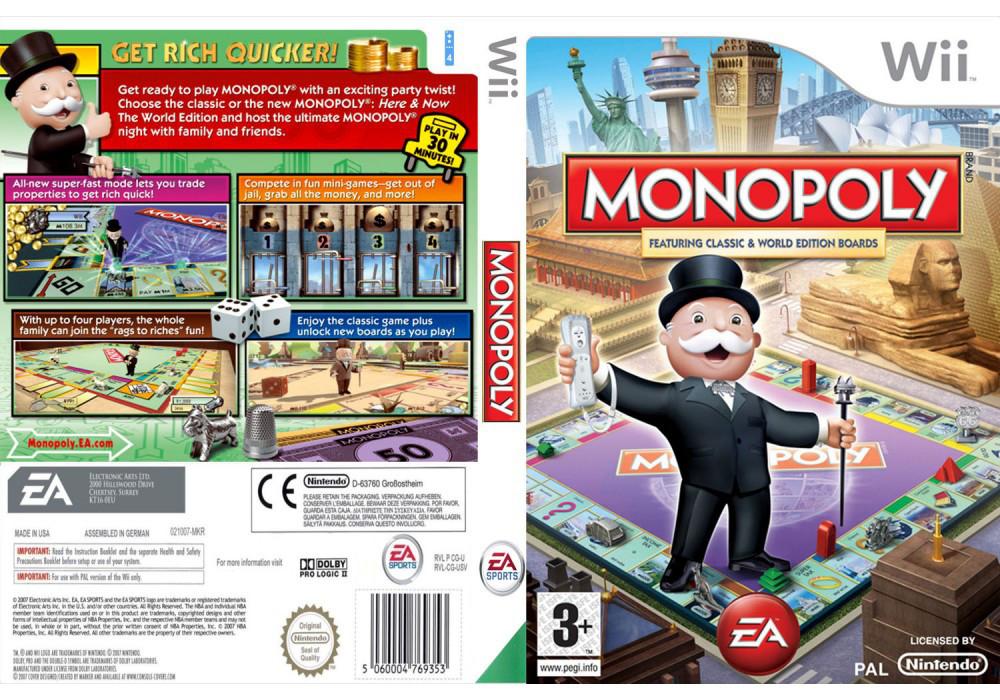 Игра для игровой консоли Nintendo Wii (PAL), Monopoly