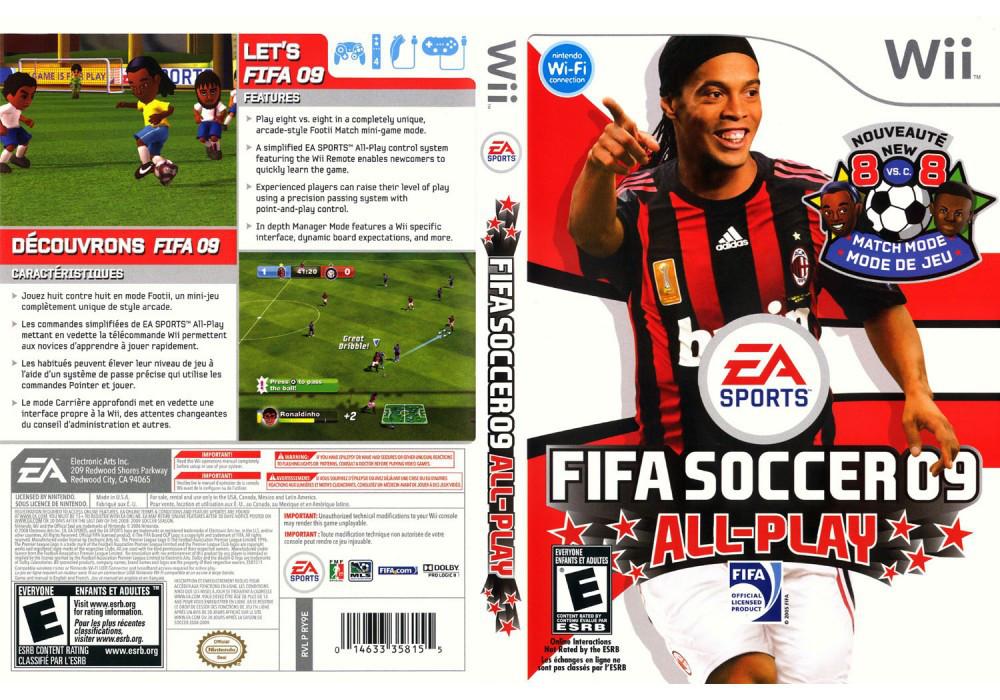 Игра для игровой консоли Nintendo Wii (PAL), FIFA Soccer 09 All-Play