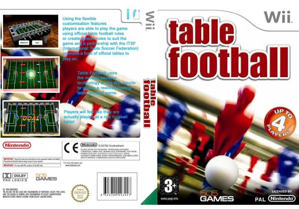 Игра для игровой консоли Nintendo Wii (PAL), Table Football