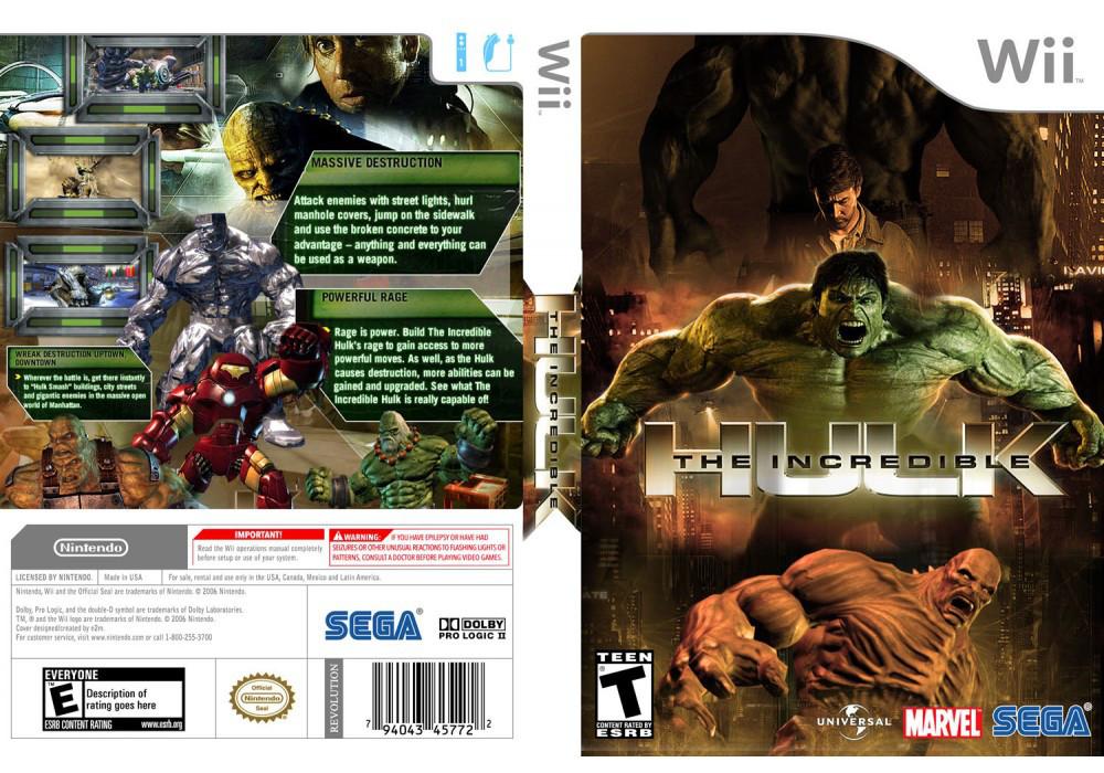 Игра для игровой консоли Nintendo Wii (PAL), The Incredible Hulk