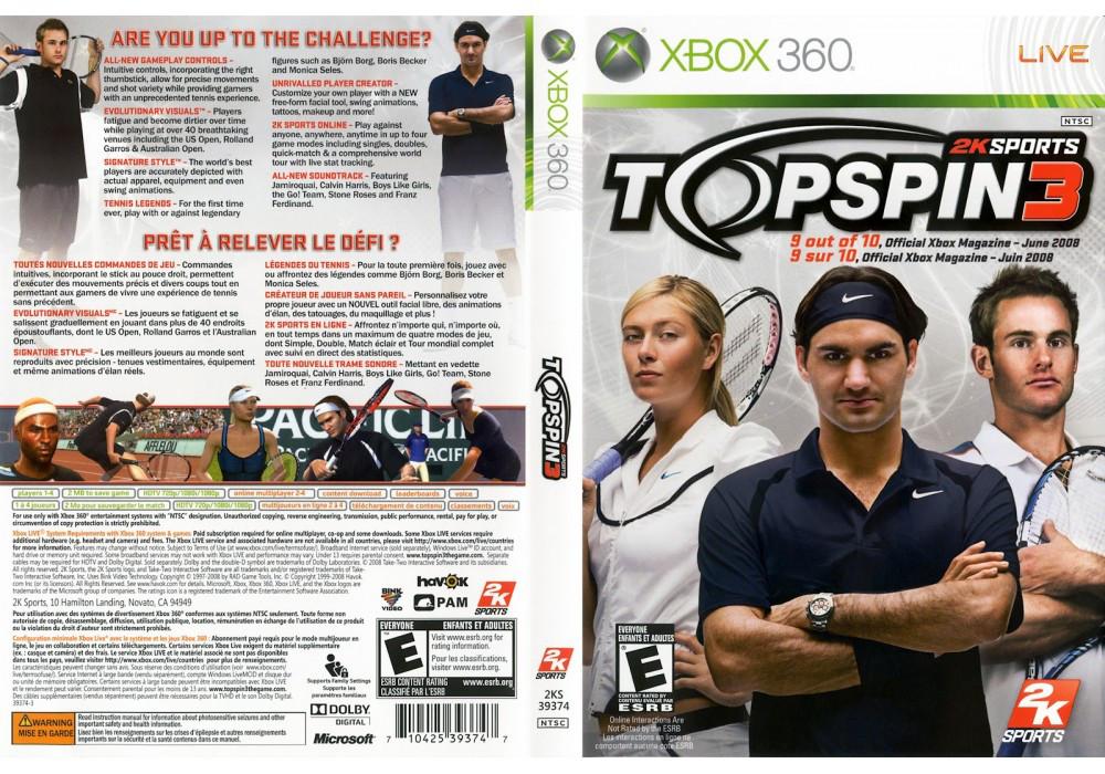 Игра для игровой консоли Nintendo Wii (PAL), Top Spin 3
