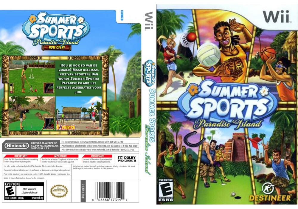 Игра для игровой консоли Nintendo Wii (PAL), Summer Sports: Paradise Island