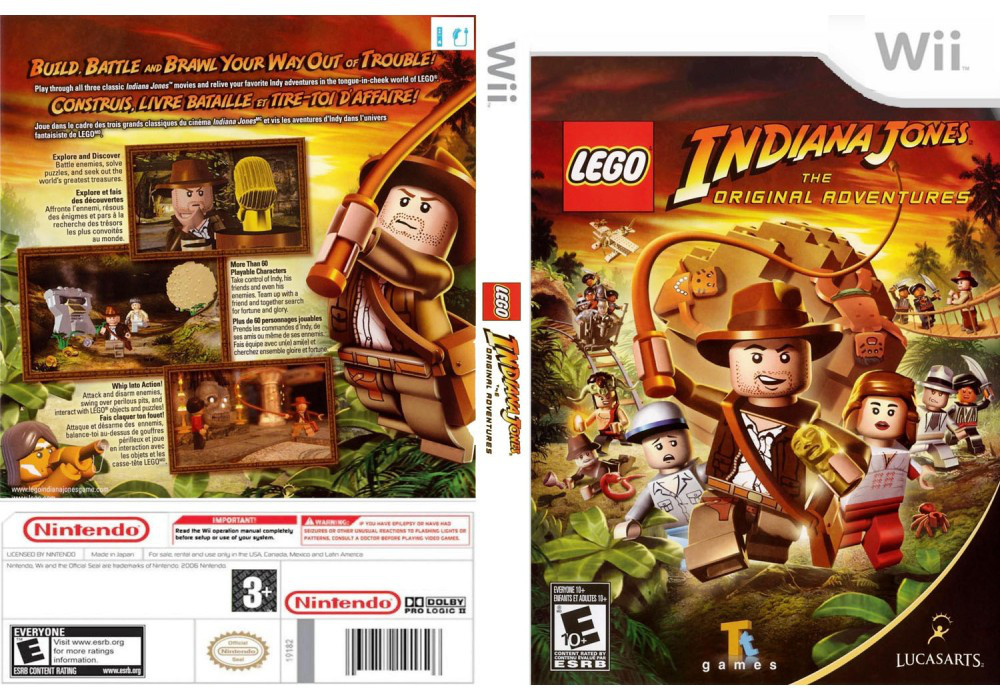 Игра для игровой консоли Nintendo Wii (PAL), LEGO Indiana Jones: The Original Adventures