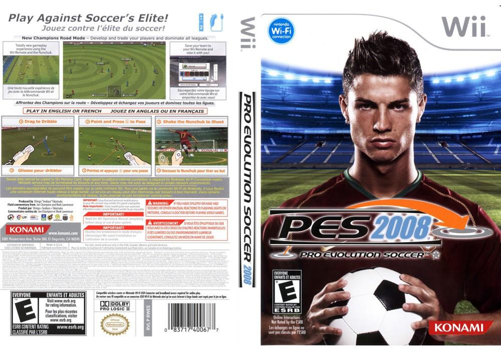 Игра для игровой консоли Nintendo Wii (PAL), Pro Evolution Soccer 2008