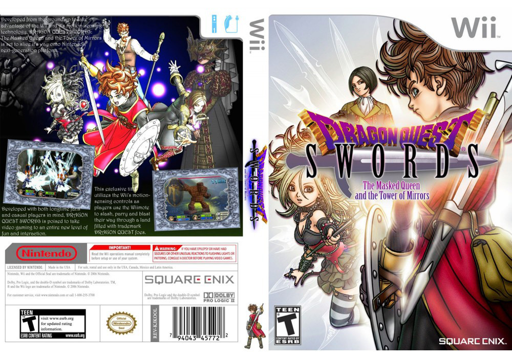 Игра для игровой консоли Nintendo Wii (PAL), Dragon Quest Swords: The Masked Queen And The Tower Of Mirrors