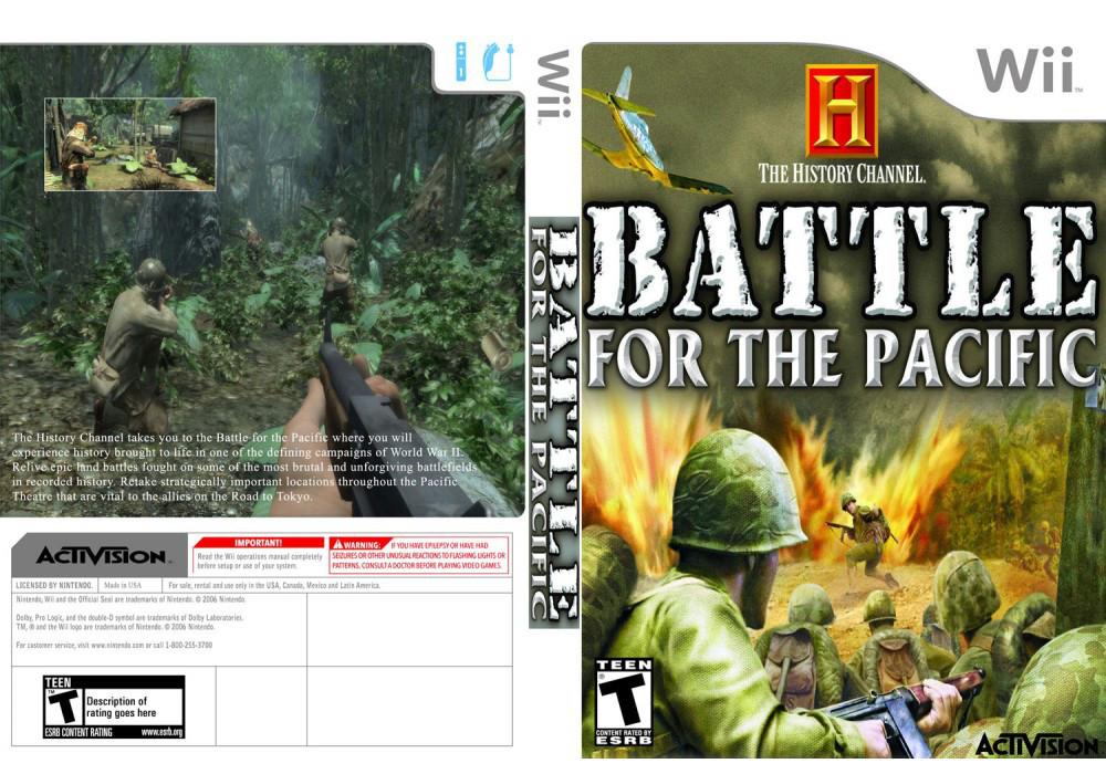 Игра для игровой консоли Nintendo Wii (PAL), History Channel Battle For The Pacific