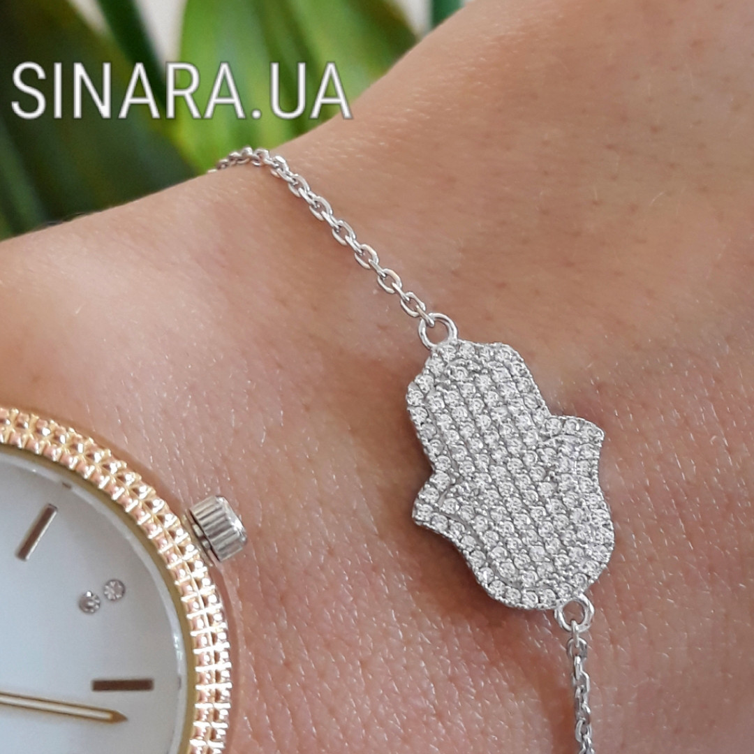 Серебряный браслет Хамса - Хамса браслет серебро