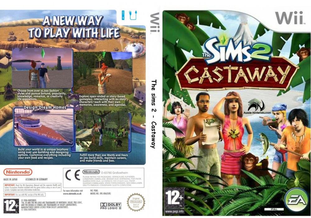 Гра для ігрової консолі Nintendo Wii (PAL), The Sims 2: Castaway