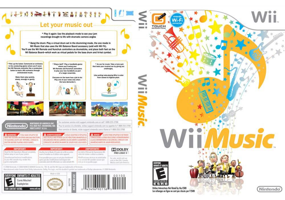 Игра для игровой консоли Nintendo Wii (PAL), Wii Music