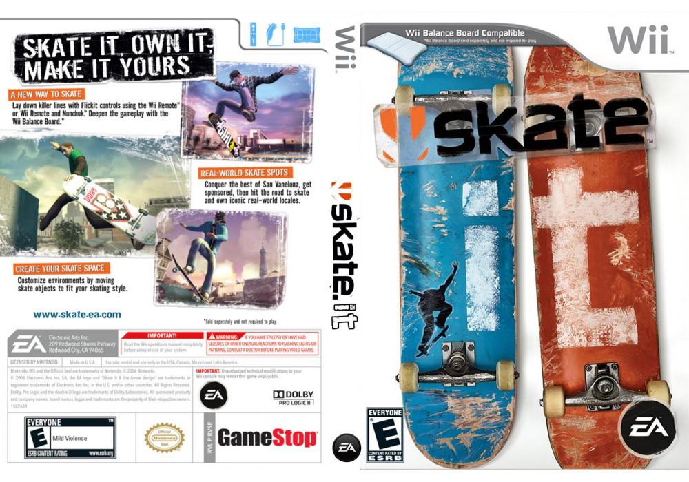 Игра для игровой консоли Nintendo Wii (PAL), Skate It