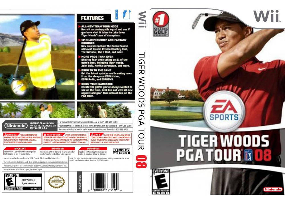 Игра для игровой консоли Nintendo Wii (PAL), Tiger Woods 08