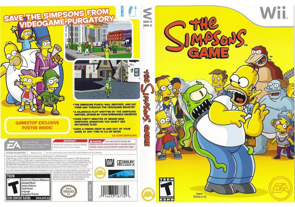 Гра для ігрової консолі Nintendo Wii (PAL), The Simpsons Game