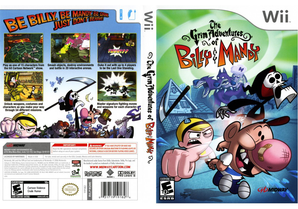 Игра для игровой консоли Nintendo Wii (PAL), The Grim Adventures