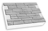 Фасадная термопанель c пенополистиролом 50мм Sunrock римская кладка, серый цемент, 600x400мм
