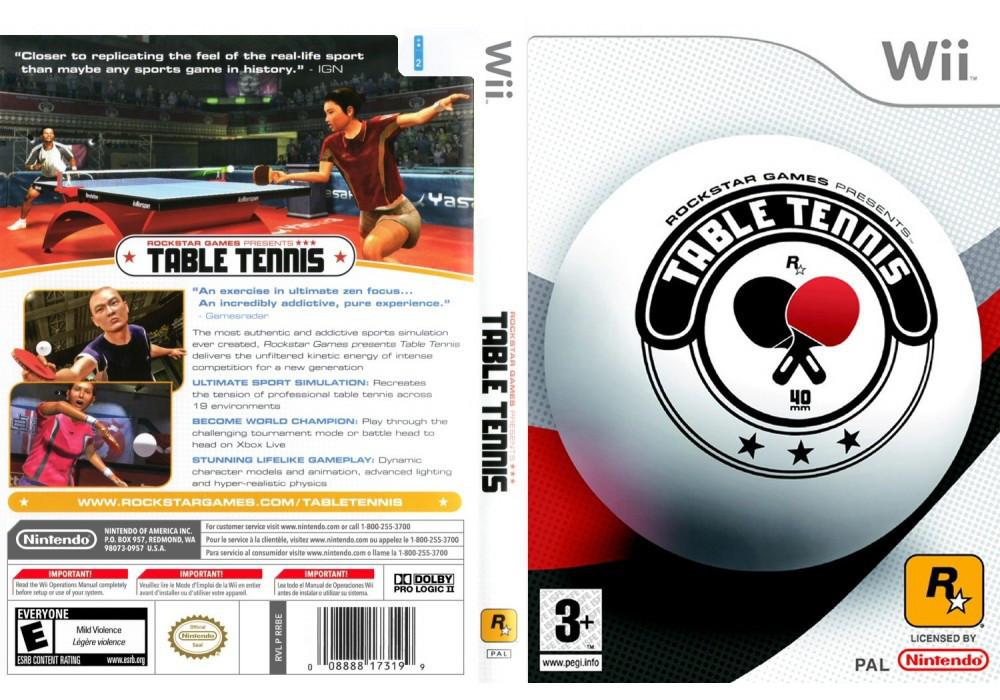 Игра для игровой консоли Nintendo Wii (PAL), Rockstar Games Table Tennis