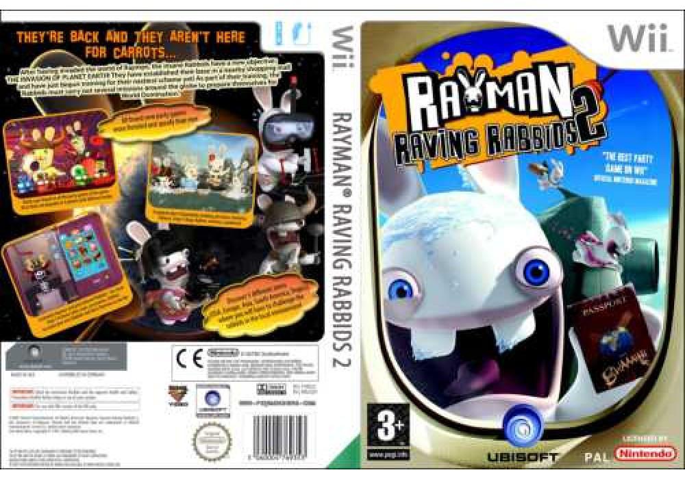 Игра для игровой консоли Nintendo Wii (PAL), Rayman Raving Rabbids 2 (русская версия)