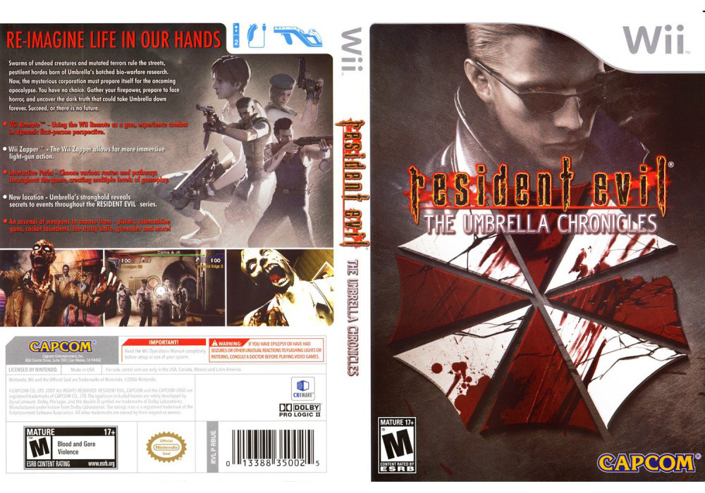 Игра для игровой консоли Nintendo Wii (PAL), Resident Evil - The Umbrella Chronicles