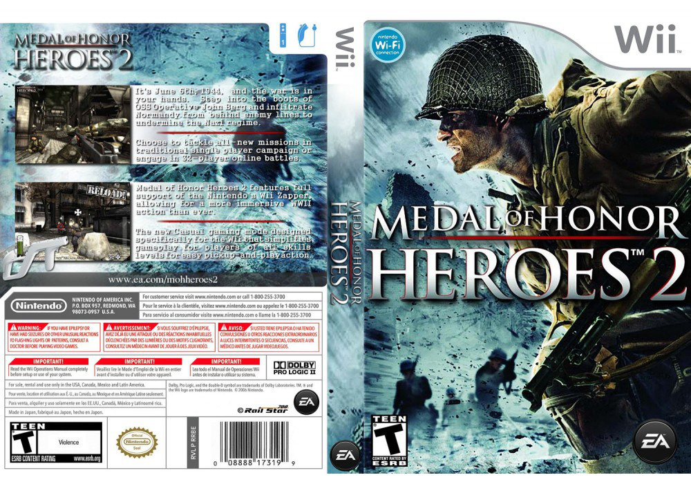 Игра для игровой консоли Nintendo Wii (PAL), Medal of Honor Heroes 2