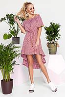Игривое Кокетливое Платье с Асимметричной Юбкой Красный р. S M L XL