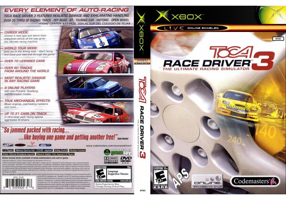 Игра для игровой консоли Xbox, Toca Race Driver 3