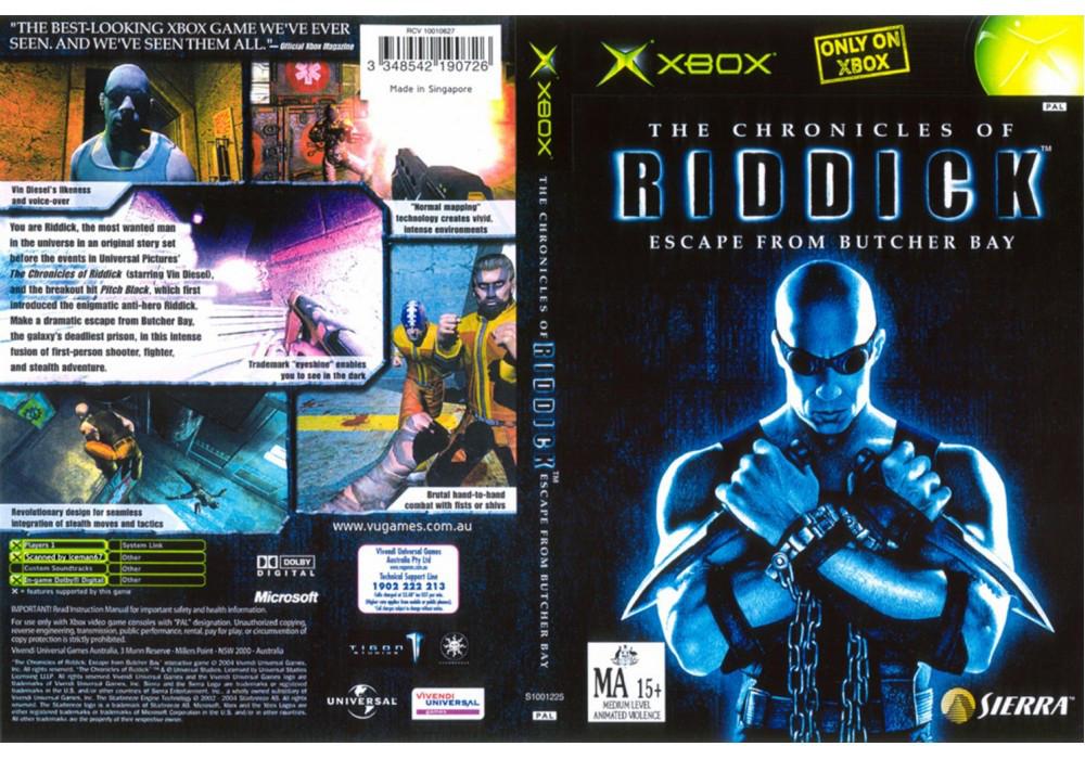 Игра для игровой консоли Xbox, The Chronicles Of Riddick Escape From Butcher Bay