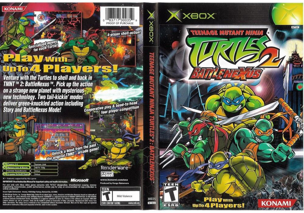 Игра для игровой консоли Xbox, Teenage Mutant Ninga Turtles 2 Battle Nexus